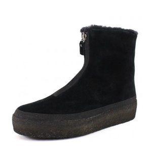 Clarks Jez Iglu Zip Black Suede Boot Snow Bootie